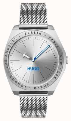 HUGO #act | malla de acero inoxidable | esfera plateada 1530107