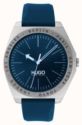 HUGO #act | correa de caucho azul | esfera azul 1530105