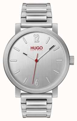 HUGO #rase | pulsera de acero inoxidable | esfera plateada 1530117