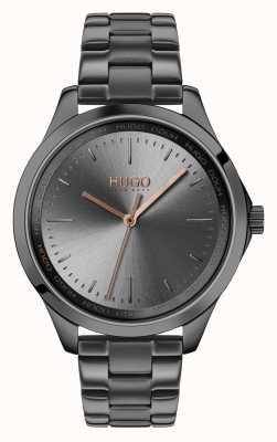 HUGO # sin miedo | pulsera ip gris | esfera gris 1540042