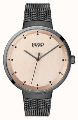 HUGO #go | malla ip gris | esfera de oro rosa 1540003