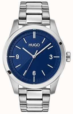 HUGO #create | pulsera de acero inoxidable | esfera azul 1530015
