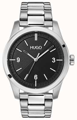 HUGO #create | pulsera de acero inoxidable | esfera negra 1530016