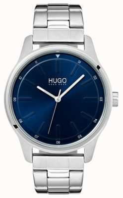 HUGO #dare | pulsera de acero inoxidable | esfera azul 1530020