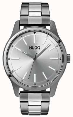 HUGO #dare | pulsera de acero inoxidable | esfera plateada 1530021