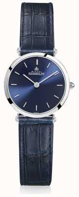 Michel Herbelin | mujeres | épsilon | correa de cuero azul | esfera azul | 17106/15BL