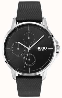 HUGO #focus | correa de cuero negro | esfera negra 1530022