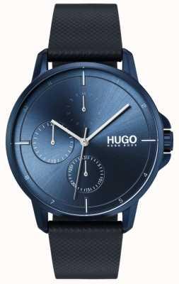 HUGO #focus | correa de cuero azul | esfera azul 1530033