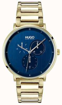 HUGO #guide | pulsera ip de oro | esfera azul 1530011