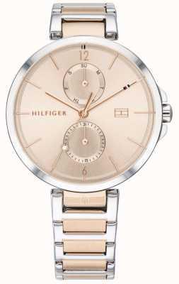 Tommy Hilfiger Angela | pulsera de acero inoxidable de dos tonos | rubor dial | 1782127