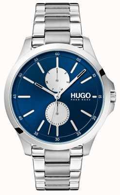 HUGO #jump | pulsera de acero inoxidable | esfera azul 1530004