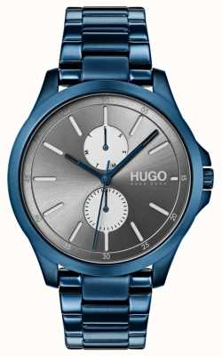HUGO #jump | pulsera ip azul | esfera gris 1530006