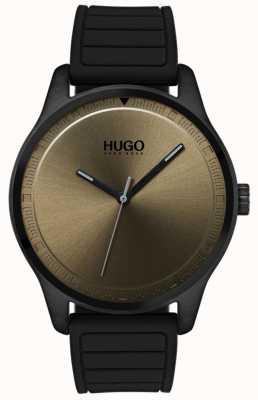 HUGO #move | correa de caucho negro | esfera de color caqui 1530041