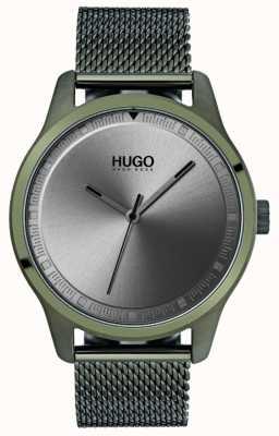 HUGO #move | pulsera de malla ip verde | esfera gris 1530046