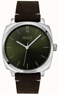 HUGO #own | correa de cuero negro | esfera verde 1530068
