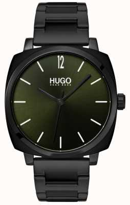 HUGO #own | pulsera ip negra | esfera negra 1530081