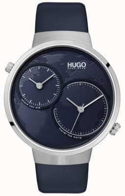 HUGO #travel | correa de cuero azul | esfera azul 1530053