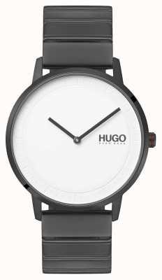 HUGO #echo | pulsera ip gris | esfera blanca 1520022