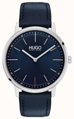 HUGO #exist | correa de cuero azul | esfera azul 1520008