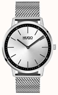 HUGO #exist | malla de acero inoxidable | esfera plateada 1520010