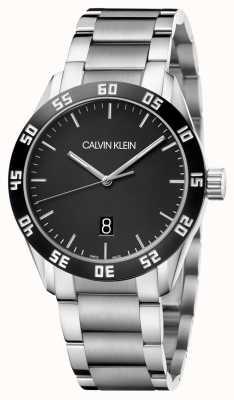 Calvin Klein El | hombres | competir | pulsera de acero inoxidable | esfera negra | K9R31C41