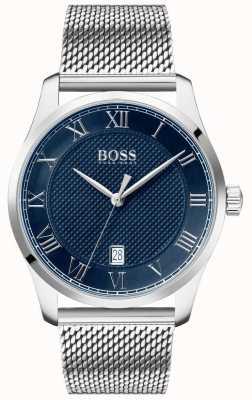 Boss El | maestro de hombres | pulsera de malla de acero inoxidable | esfera azul | 1513737