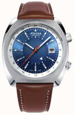 Alpina El | startimer herencia piloto | automático | cuero marrón | AL-555LNS4H6