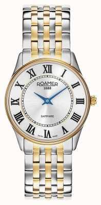 Roamer El | mujeres | sonata | pulsera de dos tonos | esfera plateada | 520820-47-15-50