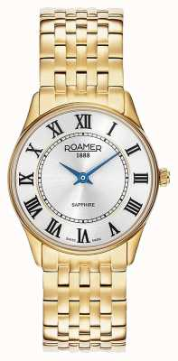 Roamer El | mujeres | sonata | acero chapado en oro | esfera plateada | 520820 48 15 50
