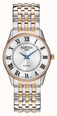 Roamer El | sonata de mujer | acero inoxidable bicolor | esfera blanca | 520820-49-15-50