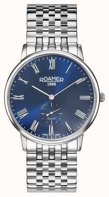 Roamer El | galaxia masculina | pulsera de acero inoxidable | esfera azul | 620710-41-45-50