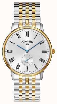 Roamer El | galaxia masculina | acero inoxidable bicolor | esfera blanca | 620710-47-15-50