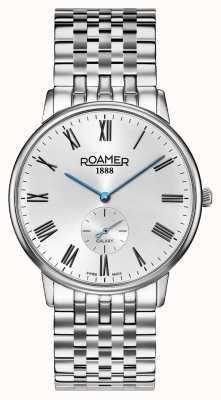 Roamer El | elementos de hombres | pulsera de plata inoxidable | esfera negra | 650810-41-55-50