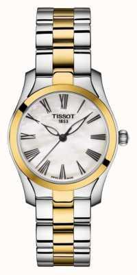 Tissot | t-wave | pulsera de dos tonos para mujer | esfera de nácar | T1122102211300