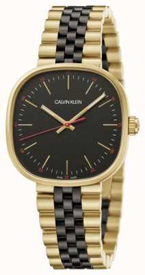 Calvin Klein El | hombres | directamente | pulsera de dos tonos | esfera negra | K9Q125Z1