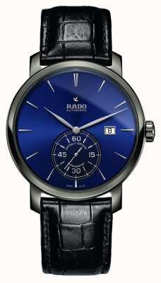 Rado El | xl diamaster petite seconde | cuero negro | esfera azul | R14053206