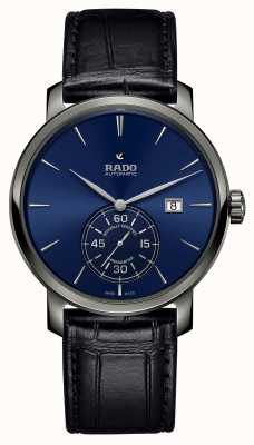 Rado Reloj xl diamaster petite seconde cuero negro esfera azul R14053206