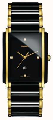 Rado Diamantes integrales de alta tecnología de cerámica reloj cuadrado negro R20204712