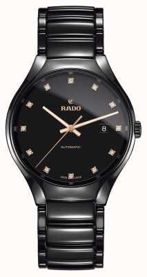 Rado Verdadero reloj automático de cerámica de plasma de alta tecnología con diamantes R27056732