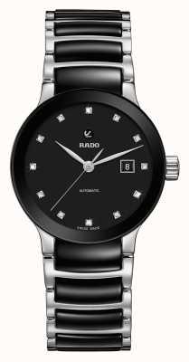 Rado Reloj de pulsera de cerámica con diamantes automáticos Centrix R30009752