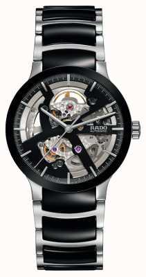 Rado Centrix open heart automático reloj de cerámica negra R30178152