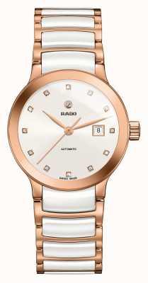 Rado Reloj de pulsera de cerámica con diamantes automáticos Centrix R30183742