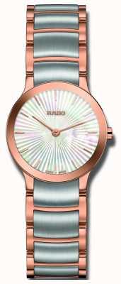 Rado Reloj Centrix de dos tonos con esfera de acero inoxidable. R30186923