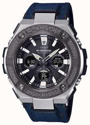 Casio El | g-shock | g-steel | cordura azul / correa de cuero | GST-W330AC-2AER