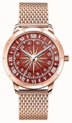 Thomas Sabo El | espíritu de las mujeres glamour astro | esfera roja | malla de oro rosa | WA0353-265-212-33