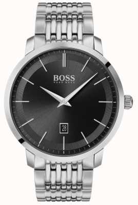 Boss El | clásico premium para hombre | acero inoxidable | esfera negra | 1513746