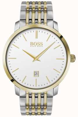 Boss El | hombres | clásico premium | dos tonos | esfera plateada | 1513747