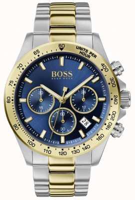 BOSS | héroe del deporte masculino lux | pulsera de dos tonos | esfera azul | 1513767