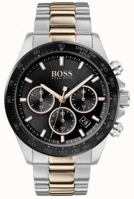 Boss El | hombres | hero sport lux | pulsera de dos tonos | esfera negra | 1513757