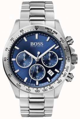 Boss El | héroe masculino sport lux | pulsera de acero | esfera azul | 1513755